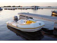 Rhino Rider. 3 Metre Rib Boat Trailer & 25hp Engine