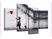Banksy Canvas Wall Art BRAND NEW NEVER OPENED