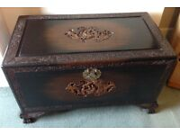 Antique Vintage Hardwood and Camphor Chest or Coffer 36 inches