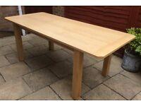 Brand New, Oak Extending Dining Table.