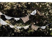 Handmade crochet bunting / Wedding