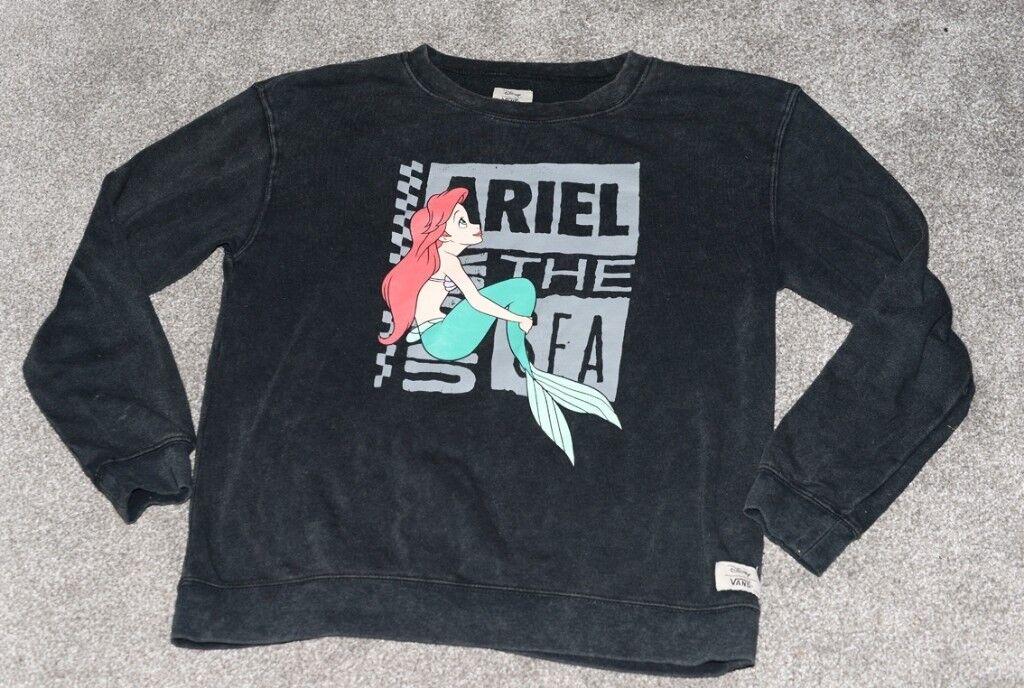 17f9600df5 Vans Disney Crew Neck Sweatshirt With Ariel Mermaid Print Size M Collector