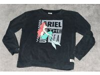 Vans Disney Crew Neck Sweatshirt With Ariel Mermaid Print Size M Collector