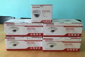 5x HIKVISION network security cameras BNIB