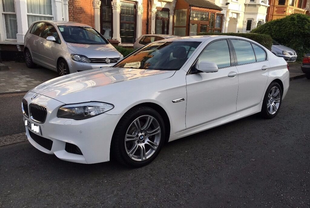 bmw 520d m sport in alpine white 2011 f10 fsh fully loaded in gants hill london gumtree. Black Bedroom Furniture Sets. Home Design Ideas
