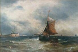 Harold Webb, seascape, watercolour print