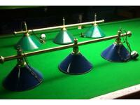 POOL SNOOKER THREE LIGHT CANOPY man cave shed, choice of two