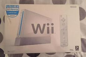 Nintendo wii console boxed