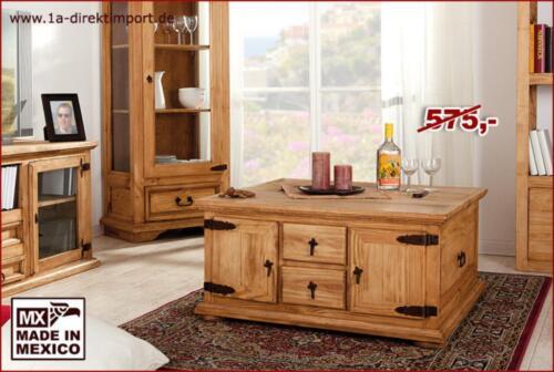 mexico couchtisch truhentisch wohnzimmertisch pinie neu massiv in dortmund dortmund h rde. Black Bedroom Furniture Sets. Home Design Ideas