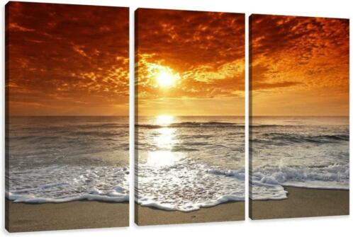 Canvas schilderij 3 luik Beautiful Sunset 160 x 90 cm