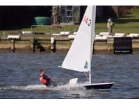 Laser 1 Limited Edition dinghy, Full XD standard rig, lauch trolley and top/bottom covers.