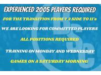 2005 Experienced players required