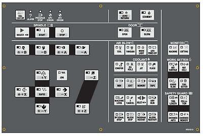 Hitachi Seiki Cnc Keypad Membrane Control Panel - Hs1013