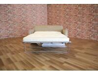 BRAND NEW John Lewis Sofa Bed 3 Seater Light Beige Cream Linen Fabric Thick Mattress