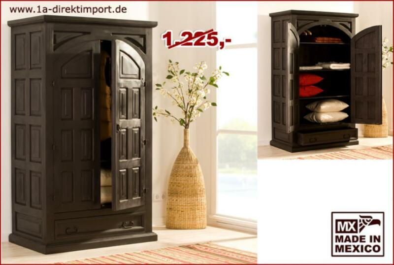 kolonialstil kleiderschrank dielenschrank. Black Bedroom Furniture Sets. Home Design Ideas