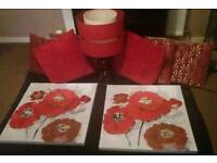 Red Living Room Accessories £40