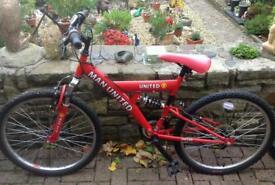 Man utd child's mountain bike