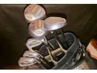 Wilson R flex golf clubs and bag
