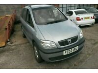 BREAKING VAUXHALL ZAFIRA ELEGANCE A 1999 1.8 16v MANUAL Z151 MIRAGE SILVER 111k Most parts available