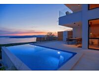 Holiday Villa with pool and fantastic view on Dalmatian island Hvar and Brac
