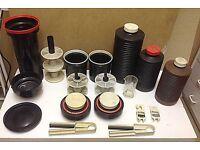 Various darkroom developing items