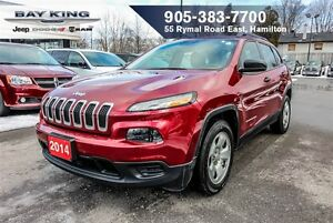 2014 Jeep Cherokee SPORT, BACKUP CAM, HTD SEATS, BLUETOOTH, A/C
