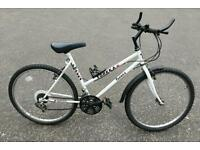 Topeka white 18 speed mountain bike