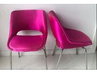 2 Mid Century chairs in the Style of Eero Saarinen for Parker Knoll - Chromecraft - Atomic