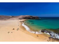 2 return flights Gatwick to Lanzarote 12th Sept returning 19th Sept