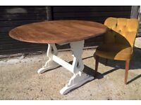 *FREE DELIVERY* Vintage Solid Oak Butterfly Drop Leaf Dining Table Shabby Chic Farmhouse(pine ercol)