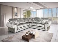 Brand new corner sofa crushed velvet