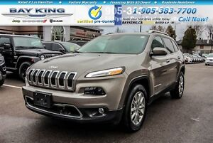 2016 Jeep Cherokee LIMITED, 4X4, NAVI, REMOTE START, ADAPT CRUIS