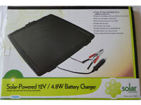 4.8 Watt Solar Panel Battery Charger £25! For 12V Batteries In Cars Motorbikes Projects Experiments
