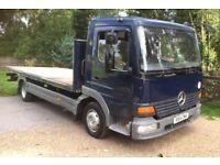 Mercedes Benz atego 815 20 flatbed truck 7.5