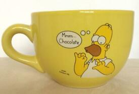 🍩 Highly Collectible The Simpsons - Homer Simpson 'Mmm Chocolate' Ceramic Mug, 2000