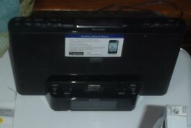 SONY DOCKING STATION ALARM/RADIO REMOTE UNUSED IPHONE 4/IPOD