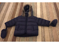 M&S winter boys coat - 3-6 months