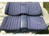 W123 Mercedes coupe Rear Seat Blue for sale  Teddington, London