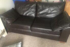 Next 4 seater leather sofa
