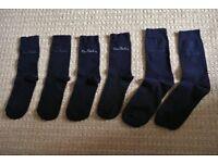 3 Pairs Men's / Mens Black Pierre Cardin Socks Size 9-10