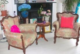 REASONABLE offers welcome: Periode 2 armchairs + sofa set (fabulous/comfortable) good condition