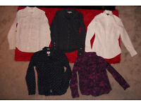 4 Fat Face and 1 Matalan Ladies Blouses Size 10