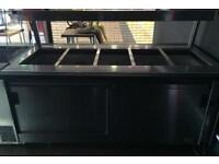 Dry Bain Marie with hot cupboard and heat lamps