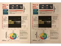 The Stone Roses 2x seated tickets Wembley Stadium Saturday 17th June