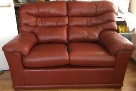 G-Plan Malvern 2 Seater Sofa in Brown leather