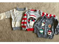 Winter theme / Christmas jumpers bundle 12-18 months baby toddler