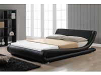 ITALIAN MODERN DOUBLE LEATHER BED