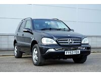 2004 MERCEDES ML 270 CDI, AUTO, BENZ BAVARIAN EDITION, FULL LEATHERS, 12 MONTHS MOT, FSH,