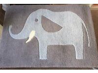Cute elephant rug and matching clock