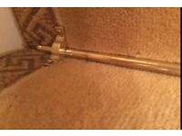 13 Beautiful Brass Stair Rods Complete With Brackets & Screws